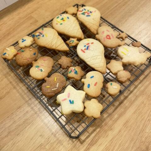 手作りクッキー出来上がり